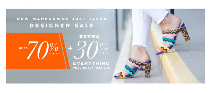 Up to 70% off at DSW