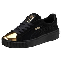 Puma Suede Platform Gold Sneakers For Women