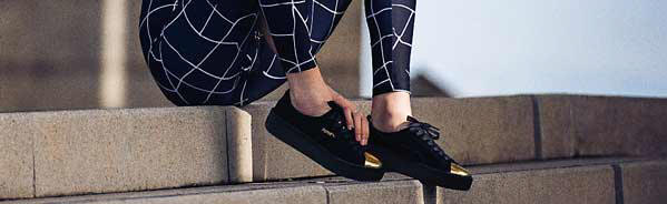 No Escape From These Women Sneakers in Black and Gold