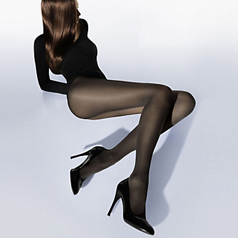 Women's Black Wolford Velvet Tights Stockings. Shop Now!